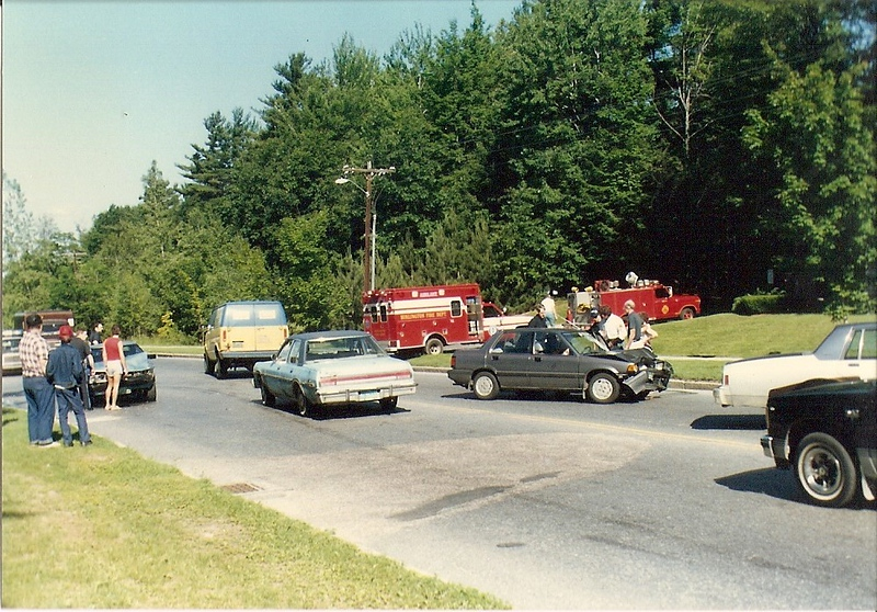South Burlington Fire Department Scanned Image of Department response to Motor vehicle accident, date unknown.