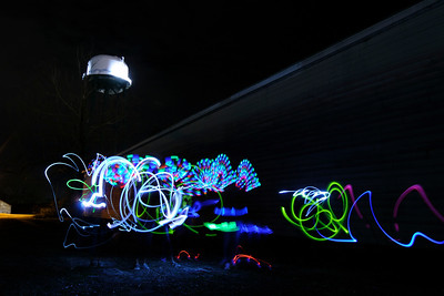 Hot Shop Studio Players spend a night creating interesting light paintings around Conway, SC on Wednesday, March 18, 2015. Copyright 2015 Jason Barnette