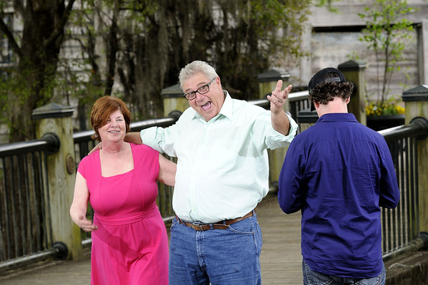 Portrait shoot with Ed and Barbara Streeter and Dennis Stevens on the Riverwalk in Conway, SC on Wednesday, April 8, 2015. Copyright 2015 Jason Barnette