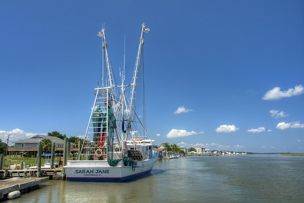 View from the dock at Edisto Watersports in Edisto Beach, SC on Friday, August 29, 2014. Copyright 2014 Jason Barnette