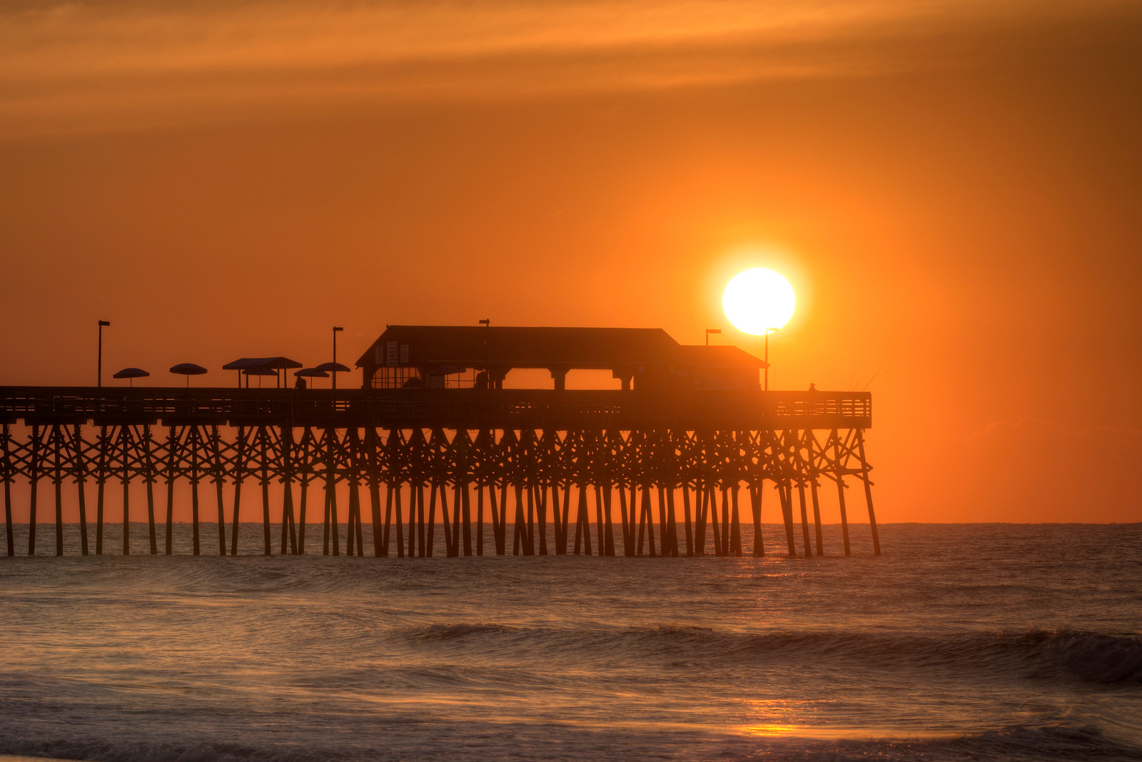 The Sunrise At Fishing Pier In Garden City Beach SC On Tuesday June