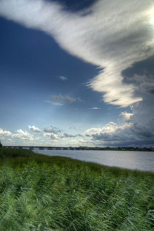 A severe summer thunderstorm moves across the Intracoastal Waterway near Georgetown, SC on Monday, July 7, 2014. Copyright 2014 Jason Barnette
