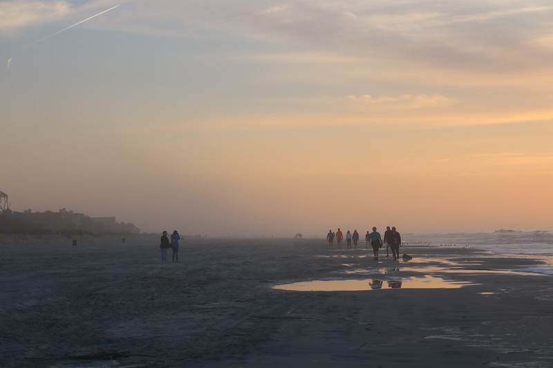 Hazy Morning on the Beach
