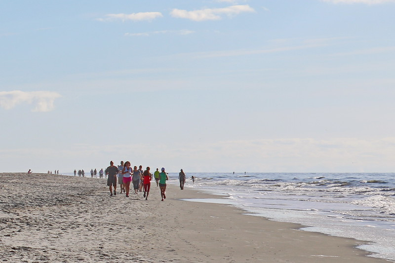 Runners on the Beach