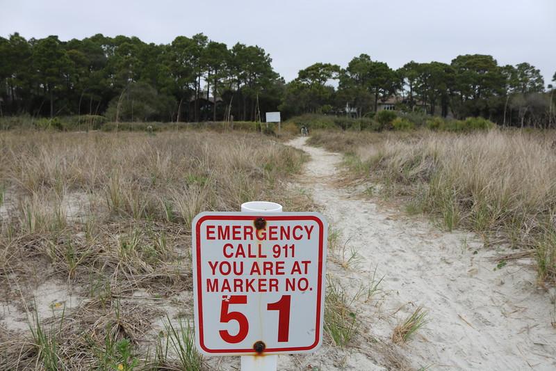 Beach Trail Marker