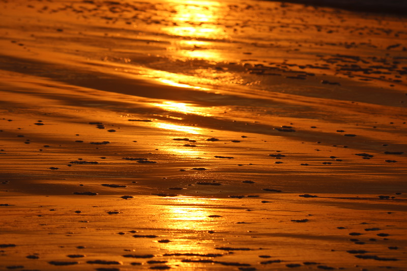 Orange Light on Sand at Sunrise