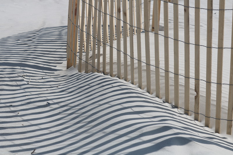 Fence Shadows on Sand Dunes
