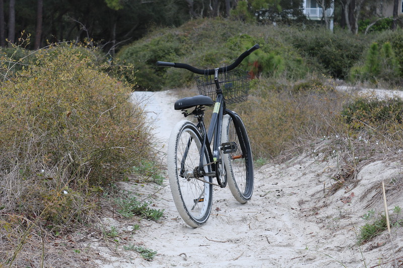 Bicycle on the Beach Dunes Trail