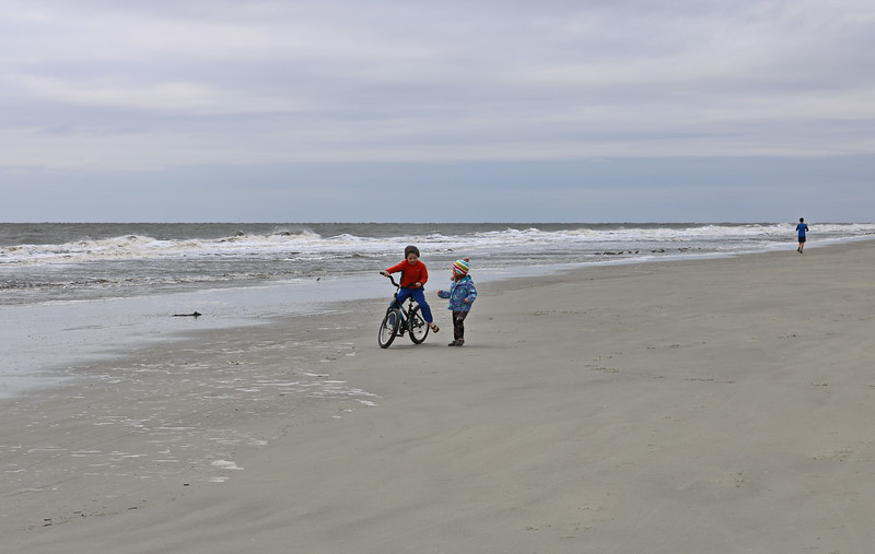 Bike Riding on the Beach
