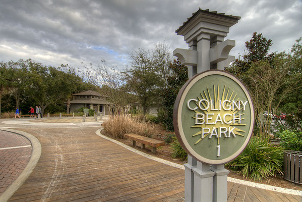 The entrance to Coligny Beach Park in Hilton Head Island, SC on Sunday, February 22, 2015. Copyright 2015 Jason Barnette