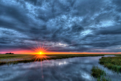 Sunset on the Marsh Boardwalk at Hunting Island State Park