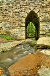 Poinsett Bridge, a stone bridge built in 1820 along the state road from Greenville to Asheville, located in the Poinsett Bridge Heritage Preserve in Traveler's Rest, SC on Thursday, May 10, 2012. Copyright 2012 Jason Barnette