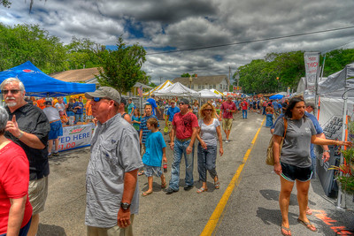 People enjoyed pleasant weather at the 31st Annual Blue Crab Festival on the historic waterfront in Little River, SC on Sunday, May 20, 2012. Copyright 2012 Jason Barnette