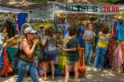 Dozens of vendors set up booths at the 31st Annual Blue Crab Festival on the historic waterfront in Little River, SC on Sunday, May 20, 2012. Copyright 2012 Jason Barnette