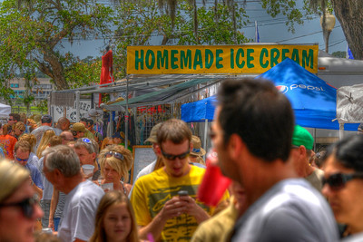 Hundreds of people attended the 31st Annual Blue Crab Festival on the historic waterfront in Little River, SC on Sunday, May 20, 2012. Copyright 2012 Jason Barnette