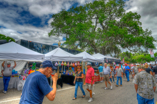 People enjoyed cold drinks and pleasant skies at the 31st Annual Blue Crab Festival on the historic waterfront in Little River, SC on Sunday, May 20, 2012. Copyright 2012 Jason Barnette