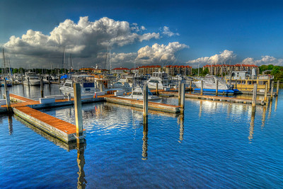 Heavy clouds linger over the marina near Lightkeepers Village in Little River, SC on Friday, April 20, 2012. Copyright 2012 Jason Barnette