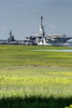 The USS Laffey (left) and USS Yorktown (right) at Patriots Point in Mt. Pleasant, SC on Monday, June 18, 2012. Copyright 2012 Jason Barnette