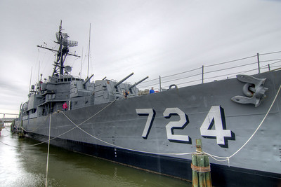 The USS Laffey DD-724 at the Patriots Point Naval Maritime Museum in Mt. Pleasant, SC on Saturday, February 28, 2015. Copyright 2015 Jason Barnette  Patriots Point is a popular tourist attraction located along the Cooper River. The site serves as the home of the USS Yorktown aircraft carrier, USS Clamagore submarine, and USS Laffey destroyer. The museum also features a gift shop, the Vietnam War Experience, and boat tours to Fort Sumter.