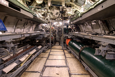 The forward Torpedo Room, and main entrance, into the USS Clamagore SS-343 at the Patriots Point Naval Maritime Museum in Mt. Pleasant, SC on Saturday, February 28, 2015. Copyright 2015 Jason Barnette  Patriots Point is a popular tourist attraction located along the Cooper River. The site serves as the home of the USS Yorktown aircraft carrier, USS Clamagore submarine, and USS Laffey destroyer. The museum also features a gift shop, the Vietnam War Experience, and boat tours to Fort Sumter.