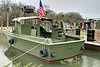 A rare MK1 River Patrol Boat, part of the Brown Water Navy, on display at the Vietnam War Experience at Patriots Point Naval Maritime Museum in Mt. Pleasant, SC on Saturday, February 28, 2015. Copyright 2015 Jason Barnette  Patriots Point is a popular tourist attraction located along the Cooper River. The site serves as the home of the USS Yorktown aircraft carrier, USS Clamagore submarine, and USS Laffey destroyer. The museum also features a gift shop, the Vietnam War Experience, and boat tours to Fort Sumter.