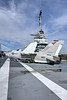 An F-8K Crusader on the main flight deck of the USS Yorktown CV-10 aircraft carrier at Patriots Point Naval & Maritime Museum in Mt. Pleasant, SC on Wednesday, January 15, 2014. Copyright 2014 Jason Barnette