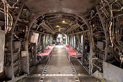 View inside the CH-46 Sea Knight at the Vietnam War Experience at Patriots Point Naval Maritime Museum in Mt. Pleasant, SC on Saturday, February 28, 2015. Copyright 2015 Jason Barnette  Patriots Point is a popular tourist attraction located along the Cooper River. The site serves as the home of the USS Yorktown aircraft carrier, USS Clamagore submarine, and USS Laffey destroyer. The museum also features a gift shop, the Vietnam War Experience, and boat tours to Fort Sumter.