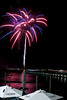 Fourth of July fireworks from the outdoor seating area at The Claw House with a view of The Marshwalk in Murrells Inlet, SC on Monday, July 4, 2016. Copyright 2016 Jason Barnette Composite Image