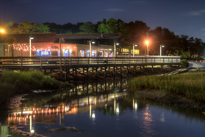 View of King Street Grille from Morse Park Landing in Murrells Inlet, SC on Thursday, May 28, 2015. Copyright 2015 Jason Barnette