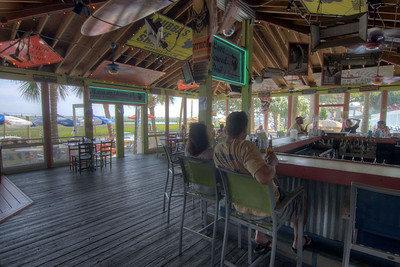 People enjoy lunch inside Bubba's Love Shak in Murrells Inlet, SC on Tuesday, September 10, 2013. Copyright 2013 Jason Barnette