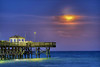 The Supermoon, a celestial event when the full moon coincides with its closest approach to the Earth, rises over the ocean near Second Avenue Pier in Myrtle Beach, SC on Sunday, June 23, 2013. Copyright 2013 Jason Barnette