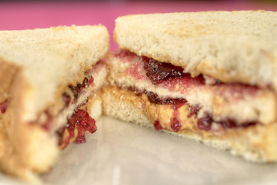 The Double Decker Peanut Butter & Jelly Sandwich, one of their signature meals, at Lulu's Cafe in Myrtle Beach, SC on Thursday, September 5, 2013. Copyright 2013 Jason Barnette