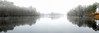 Panoramic view of a heavy snow storm at Enterprise Landing and the Waccama River in Myrtle Beach, South Carolina on Tuesday, January 11, 2011. Photo Copyright 2011 Jason Barnette