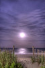 The Supermoon, a celestial event when the full moon coincides with its closest approach to the Earth, rises over the ocean in Myrtle Beach, SC on Sunday, June 23, 2013. Copyright 2013 Jason Barnette