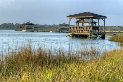 View looking across the inlet behind Pawleys Island, SC on Monday, April 2, 2012. Copyright 2012 Jason Barnette