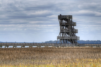 The Observation Tower on the Henry Robinson Boardwalk at the Sands Beach in Port Royal, SC on Saturday, February 21, 2015. Copyright 2015 Jason Barnette