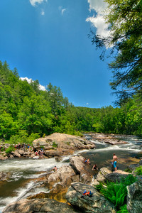 Highway 76 Access to the Chattooga National Wild and Scenic River in Long Creek, SC on Saturday, June 10, 2017. Copyright 2017 Jason Barnette