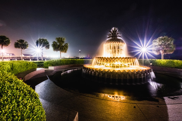 Night At the Pineapple Fountain