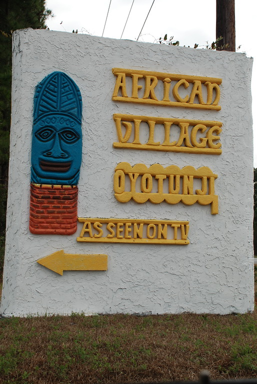 Oyotunji Village sign