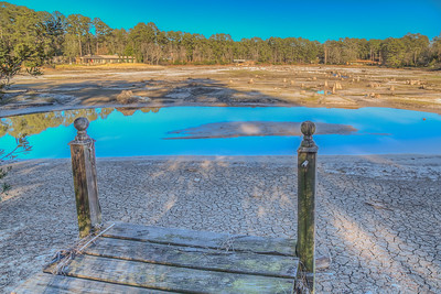 Empty man made lake - Arcadia Lakes - Columbia, South Carolina