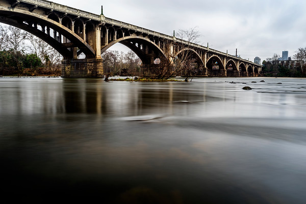 Color version of the bridge from yesterday.  One of my Christmas presents was an adapter with a built in ND filter letting me get a long exposure in the daylight.