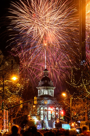 New Year's downtown