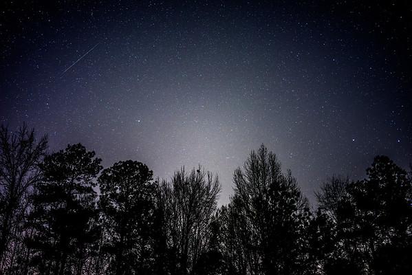 Geminids meteor shower earlier tonight.