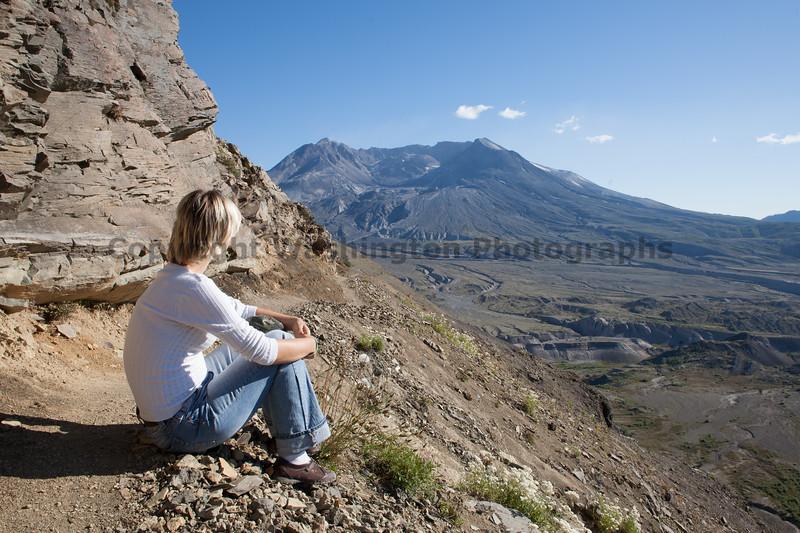 Mt St Helens Trail Hiking 309