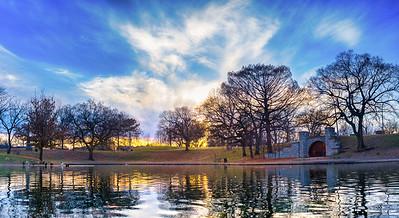 Benton Park Lake at Sunset