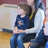 "JENN SMITH — THE BERKSHIRE EAGLE <br /> Katie Laudone of Lee and her son, Asa, 3, listen to teacher ""Miss Jess"" read a story during last Friday's South County STEM program at the Lenox Community Center. The program is coordinated through a partnership with South Berkshire Kids and the Berkshire Museum."