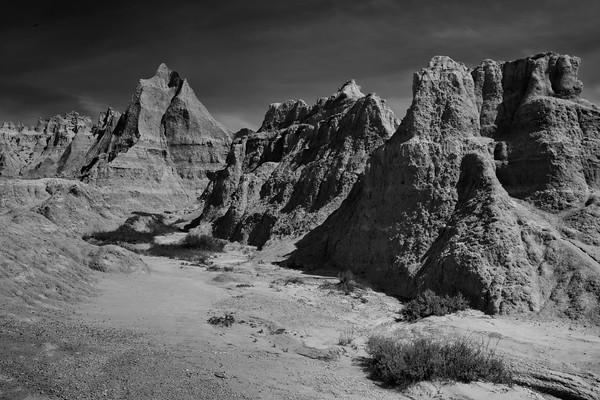 Badlands in Black & White