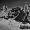Badlands in Black & White