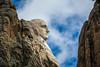 The profile of George Washington at Mount Rushmore National Memorial near Keystone, South Dakota, in the United States.