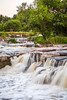 The Falls of the Big Sioux River in Falls Park, Sioux Falls, South Dakota, USA.